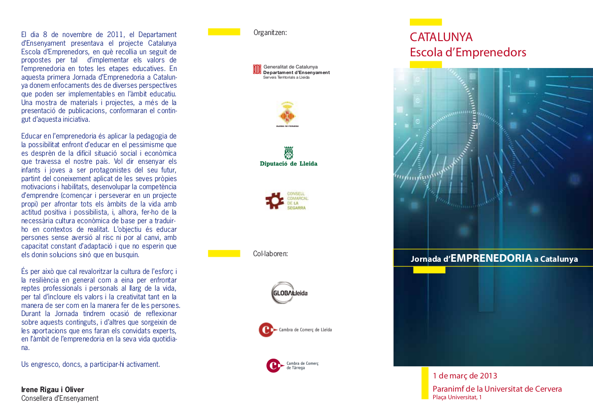 Aprendiendo a Emprender: 1ª Jornada d'Emprenedoria, a Catalunya